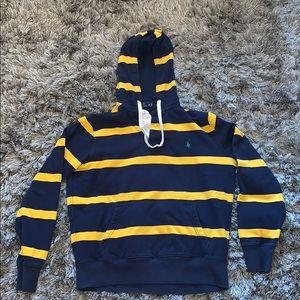 EUC🌸 Mens Polo Ralph Lauren stripped hoodie